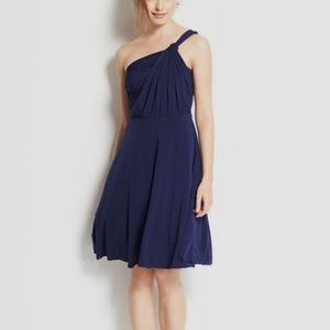 Ann Taylor - Navy One Shoulder Bridesmaid Dress